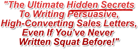 hidden secrets to writing sales letters for your website